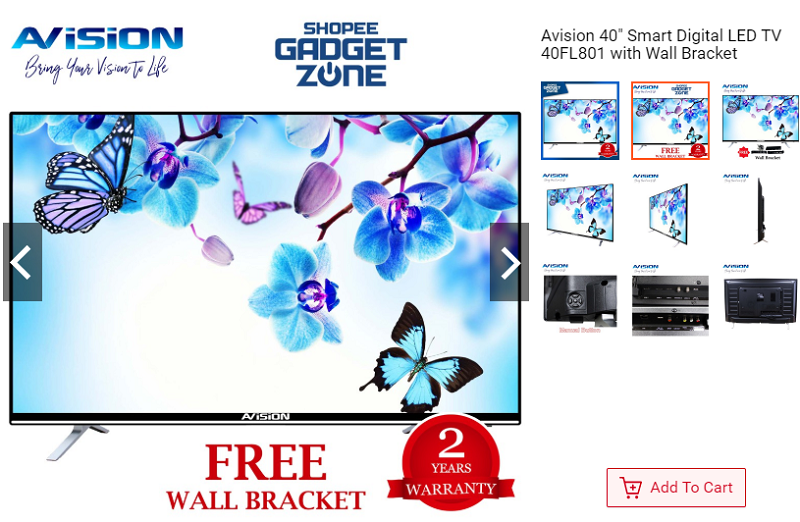 Avision 40-inch Smart Digital LED TV 40FL80