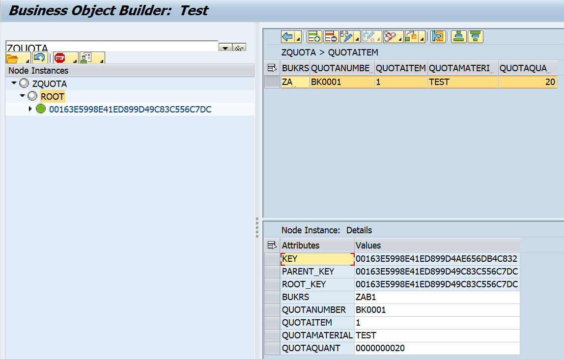 SAP ABAP Central: BOPF: Using Non-UUIDs (DB_KEY) keys DB tables