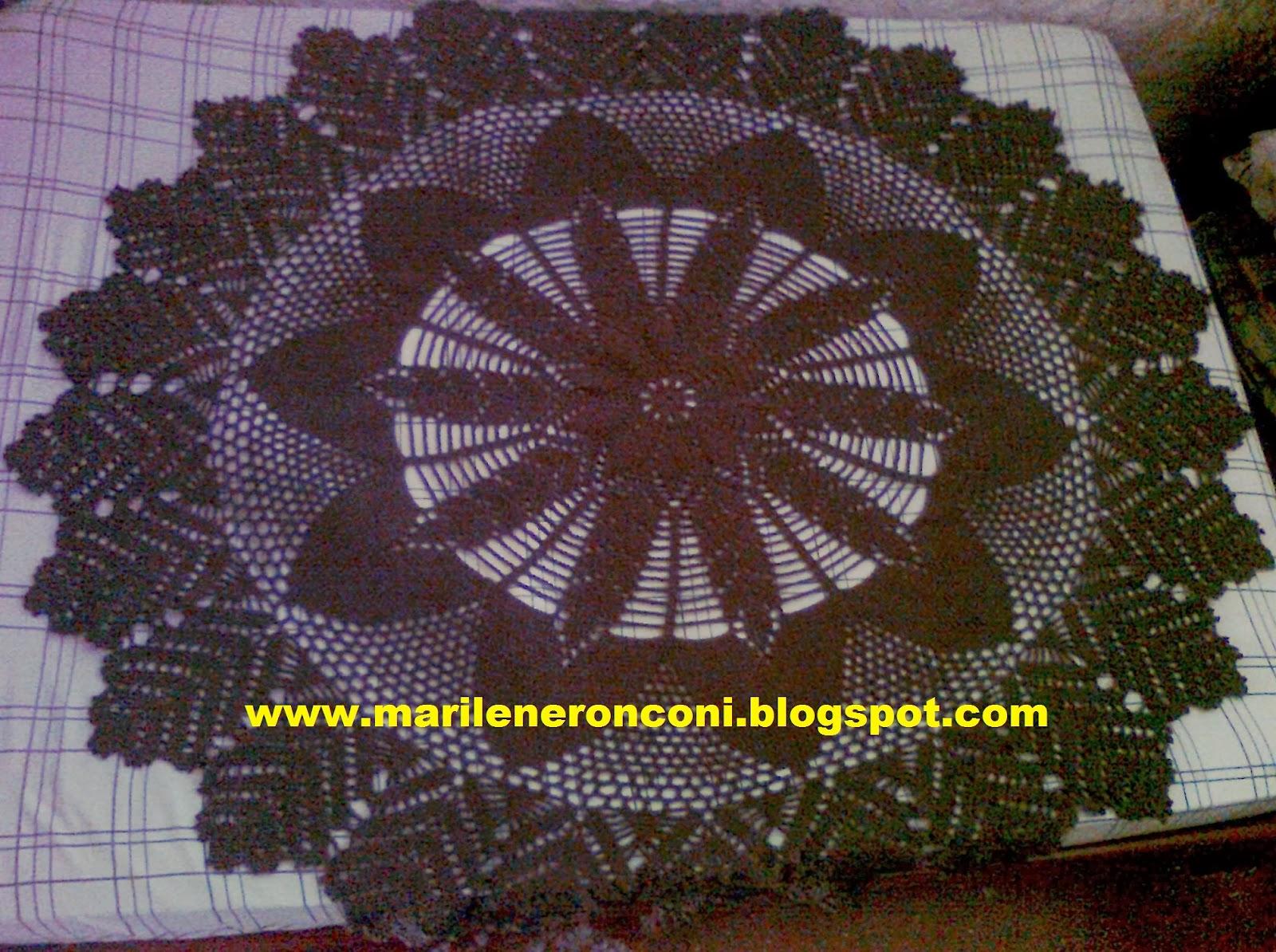 Tapete Moderno De Croche Redondo -> Tapete Para Sala De Barbante Redondo