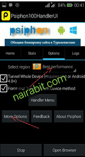 Psiphone handler, latest mtn free browsing cheat