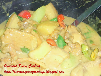Pork and Chicken Curry - Cooking Procedure