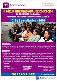 Derrama Magisterial organizará II Foro Internacional de Educación en septiembre