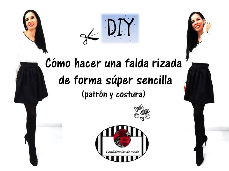 14695c499 DIY patrones y costura. Cómo hacer una falda rizada de forma súper ...