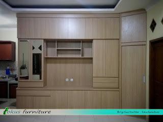 Furniture minimalis lemari tv di cimanggis