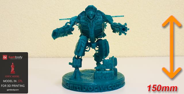 Warhammer40k TAU XV109 Y'Vahra 3D Printable figure
