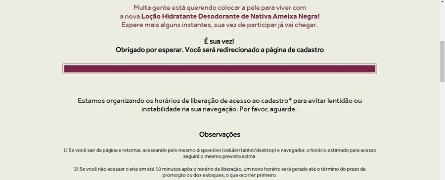 Produto grátis O Boticário Loção Hidratante Desodorante de Nativa Ameixa Negra