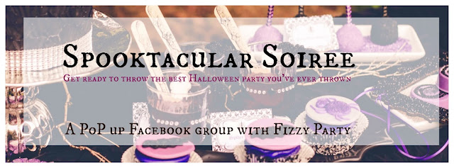 Spooktacular Soiree Halloween Facebook group by Fizzy Party