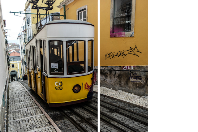 Lisbon, Lisboa, Portugal, yellow tram, streets of Lisbon,