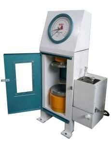 Electric concrete compression machine with box