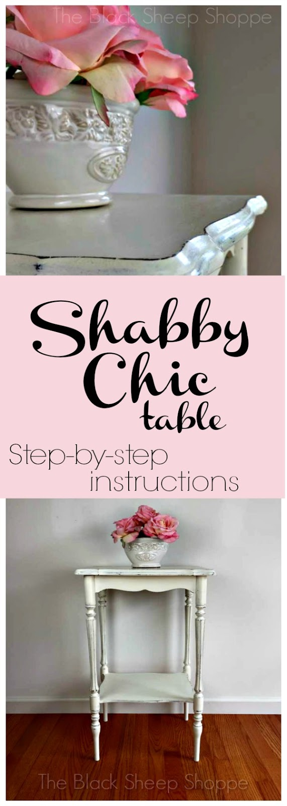 How to create a shabby chic look with Chalk Paint. Step by step instructions.