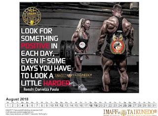 Greatful martial arts calendar for 2018