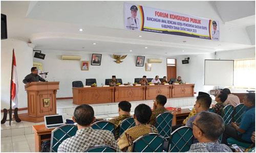 Zuldafri Darma Pimpin Rapat Forum Konsultasi Publik Rencana Kerja Pemerintah Daerah