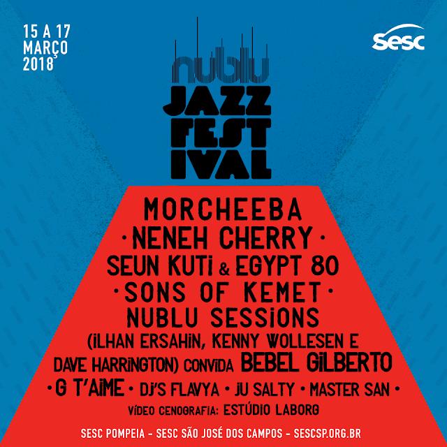 Sesc São Paulo promove a 8ª edição do Nublu Jazz Festival de 15 a 17 de março