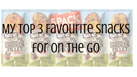 Title favourite snacks on the go