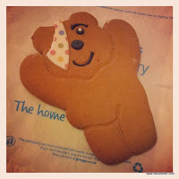 Pudsey Bear biscuit