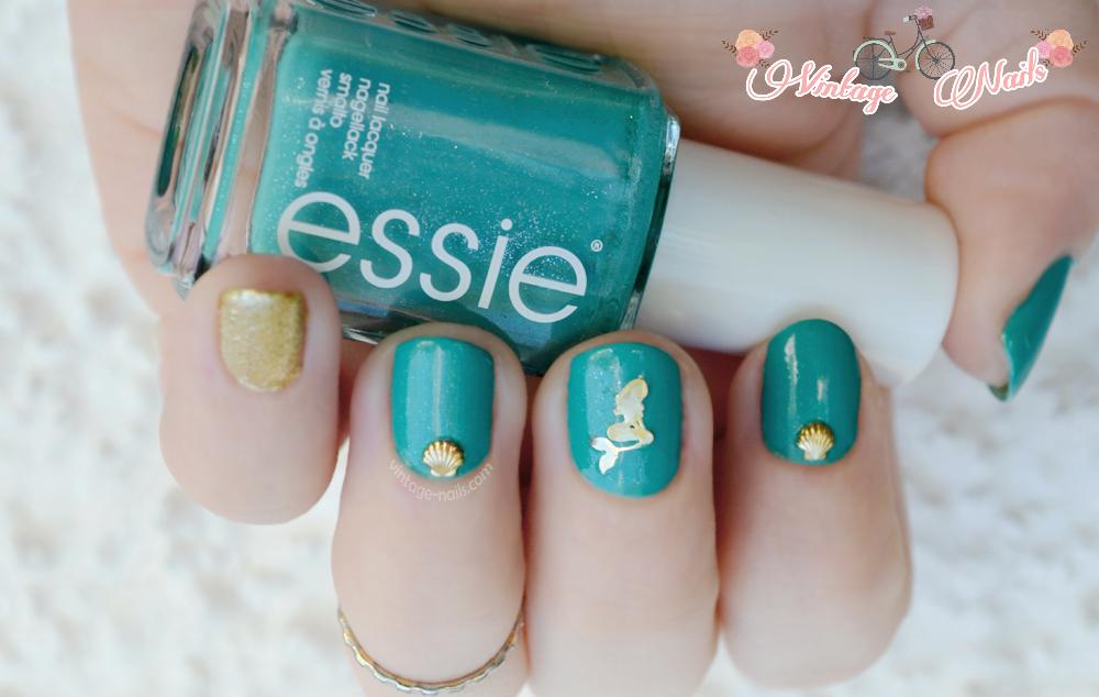 nail art, manicura, manicure, Essie, China Glaze, Disney, La Sirenita