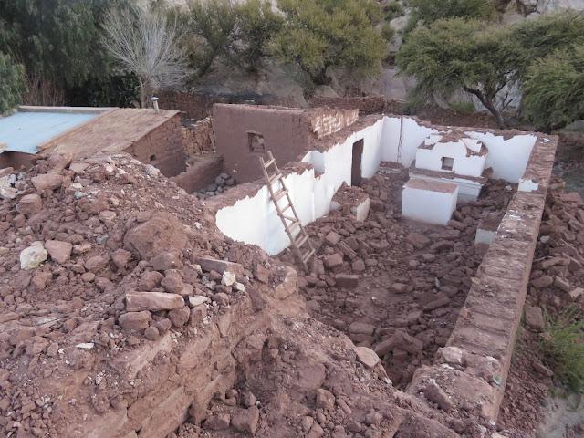 Das Dach der Kapelle wurde abgebrochen
