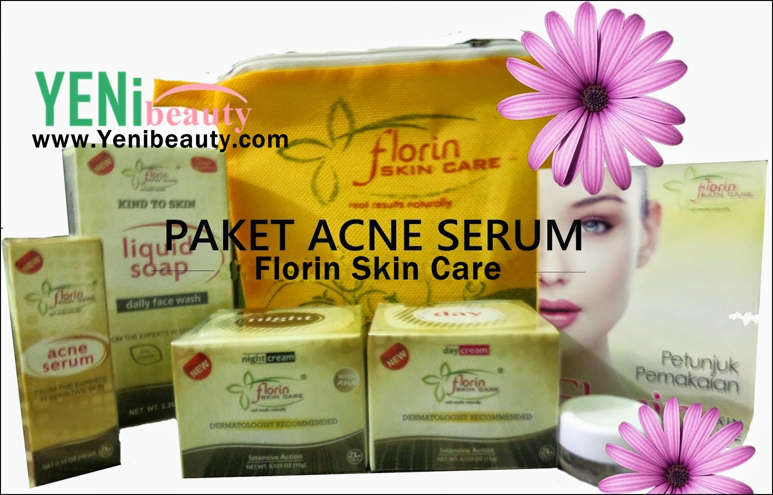 Florin skin care paket acne serum