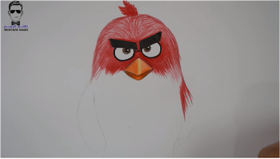 تعليم رسم الطيور الغاضبة