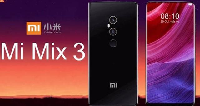 terbongkar spesifikasi resmi smartphone Xiaomi Mi Mix 3, RAM 10GB dan kamera selfi tersembunyi.