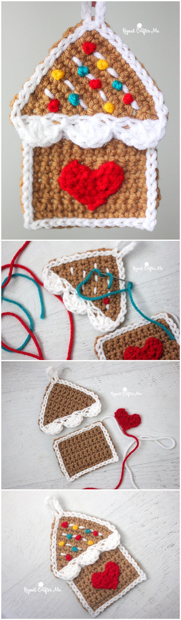 Crochet Gingerbread House Ornament