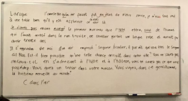 French Dictation Exercise Sample