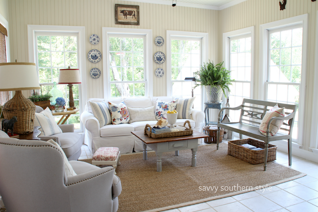 Savvy Southern Style Refreshed Sun Room