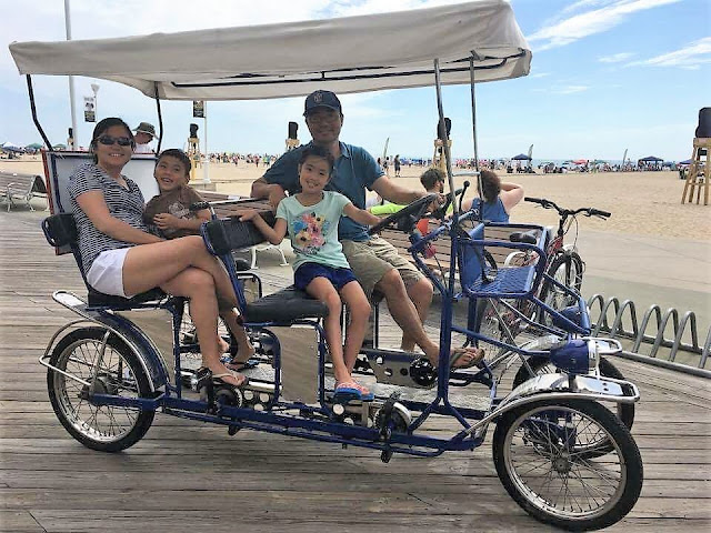 surrey bike ocean city maryland boardwalk