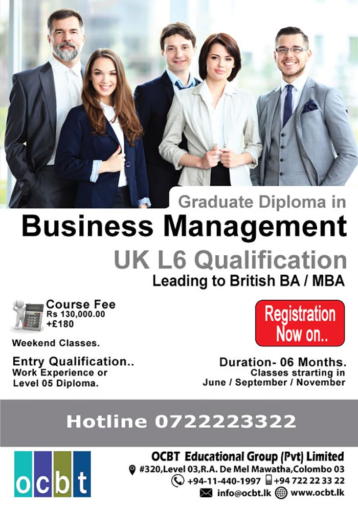 Graduate Diploma ( UK ) in 6 months @ OCBT Campus