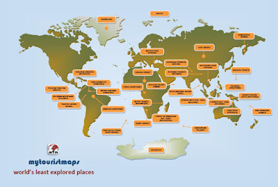 world's least explored places map