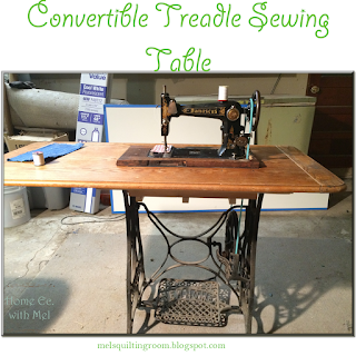 convertible treadle sewing machine table