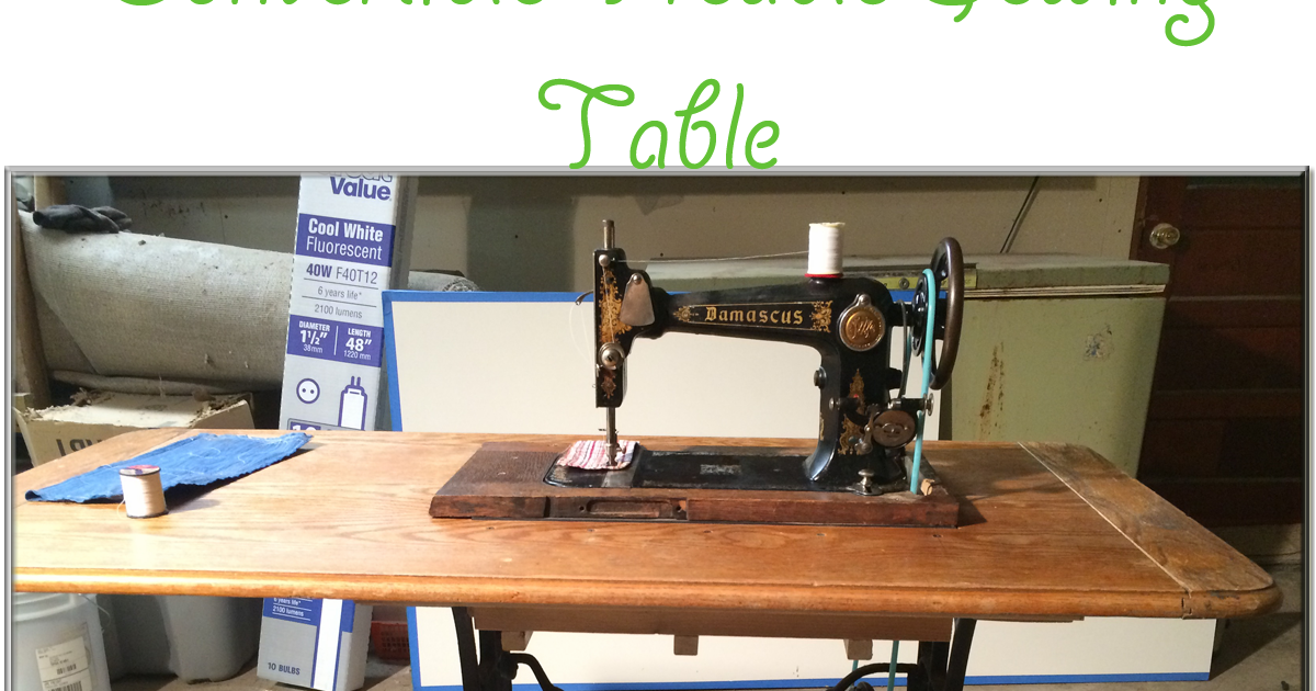 Convertible Treadle Sewing Machine Table The Quilting