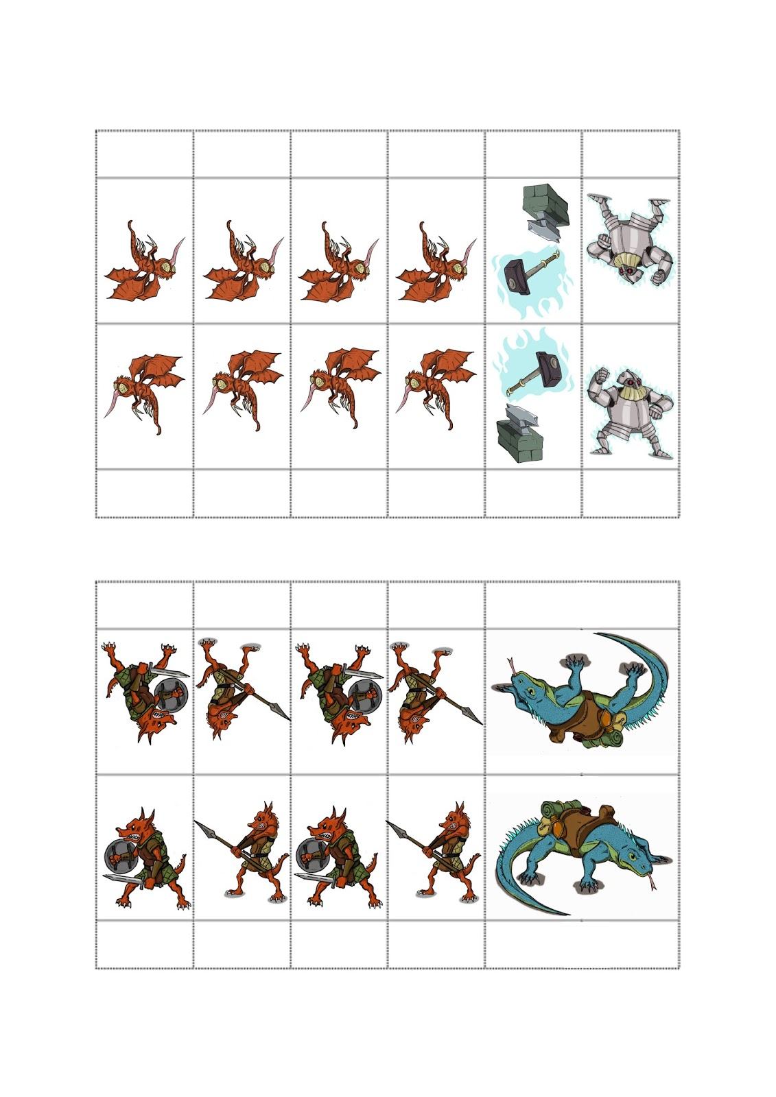 This is a picture of Satisfactory Free Paper Miniatures