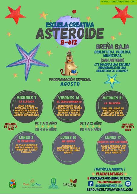 """""""ASTEROIDE B-612"""": Programación especial en agosto"""