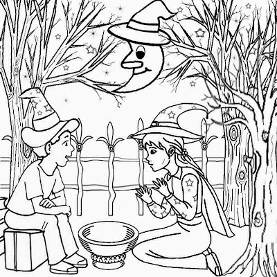 Scarecrow Coloring Page For Kindergarten