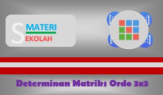 Contoh Soal Determinan Matriks Ordo 3 Beserta Pembahasannya