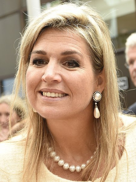 Queen Maxima wore NATAN Dress, Carlend Copenhagen python clutch bag, Natan python pumps