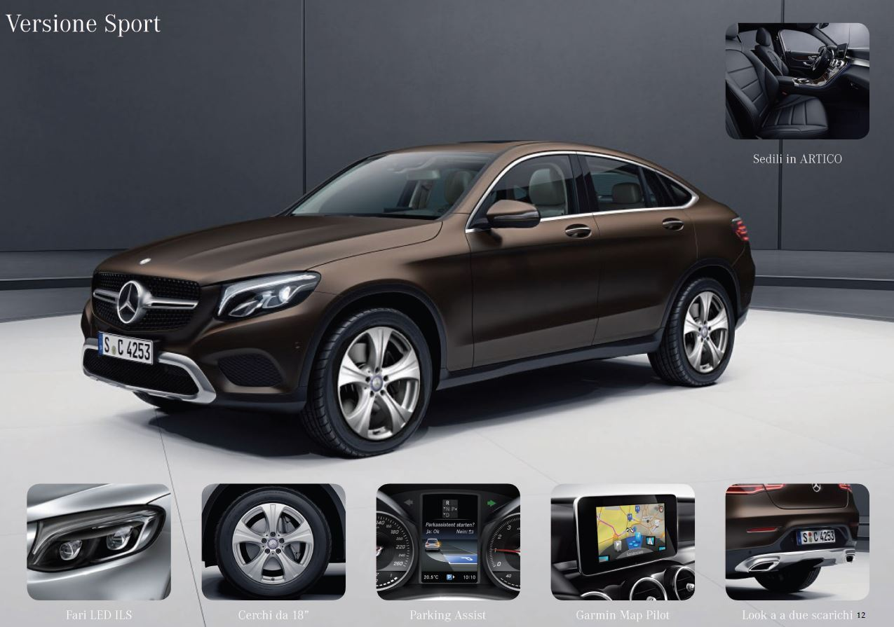 mercedes glc coupè allestimento sport optional