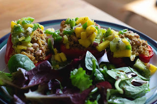 Jackfruit and quinoa stuffed peppers [vegan!], imogen molly blog, www.imogenmolly.co.uk