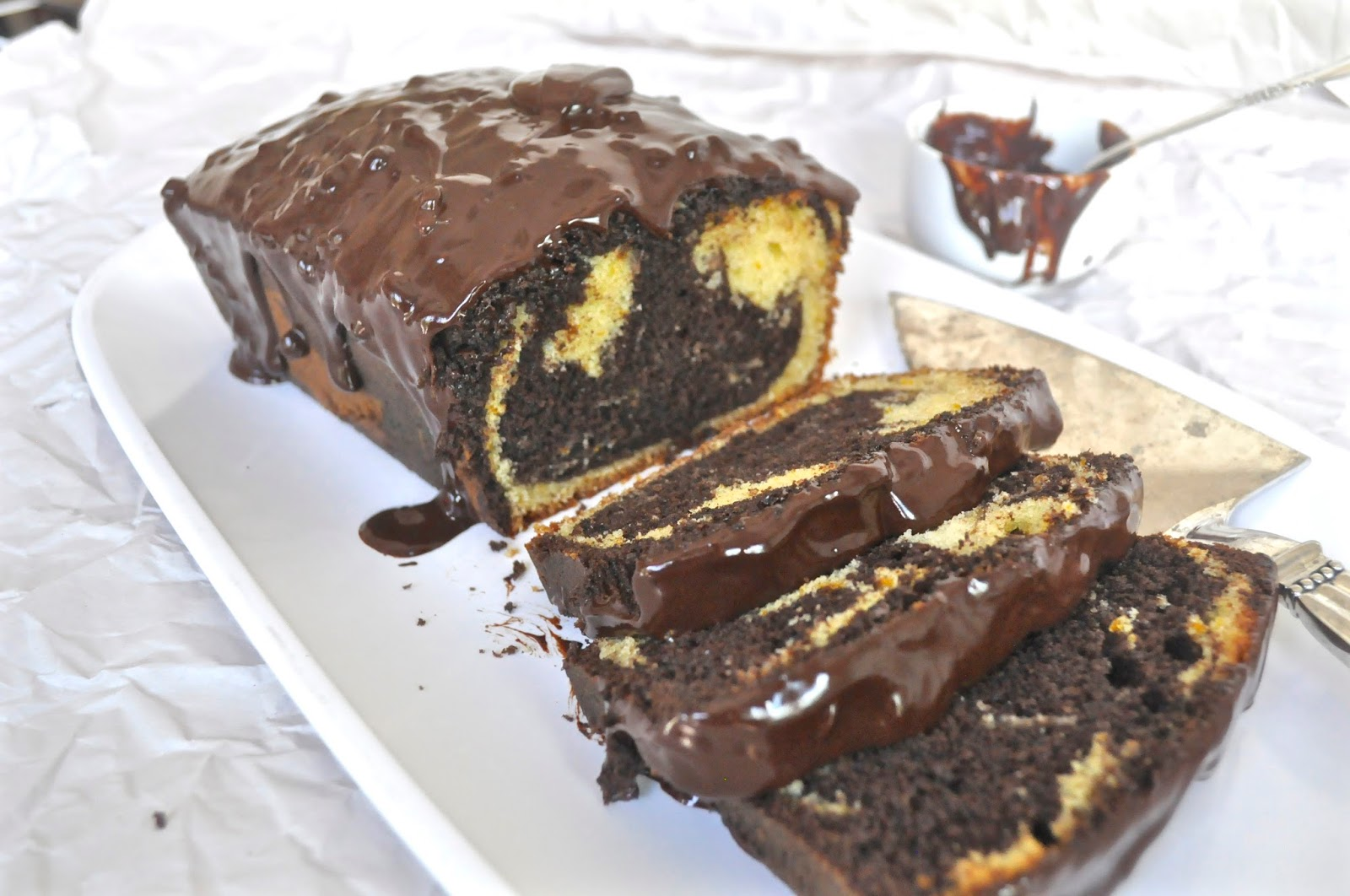 Chocolate Orange Marble Loaf Cake and a Giveaway - Ciao Chow Linda