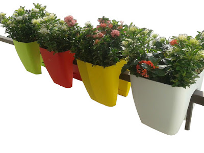 Balcony Square Railing planters India