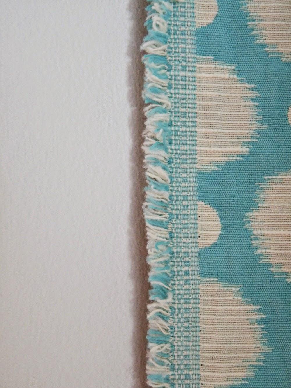 Aqua polka dot upholstery and drapery fabric