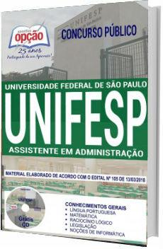 Apostila UNIFESP 2018 Assistente em Administração