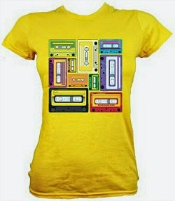 Retro Cassettes T-shirt for Women - choice of colours