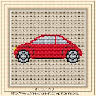 Car 3, Free and easy printable cross stitch pattern