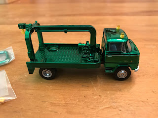 Tomica Limited Vintage Green Chrome Nissan  Wrecker Truck