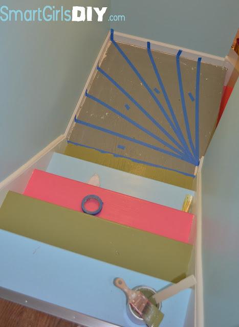 ... Painting. Tutorial Rainbow Stairs Fun