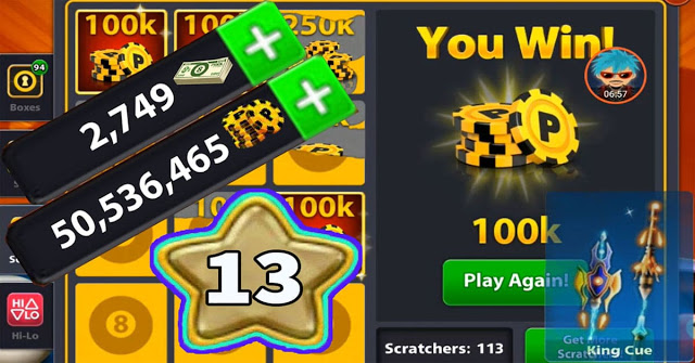coins 8 ball pool 100 Million level 15
