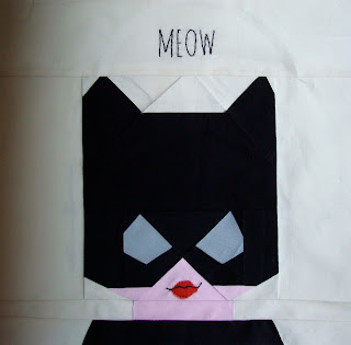 Lego Catwoman patchwork cushion