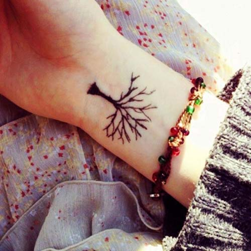 ağaç dövmesi bilek tree tattoo on wrist
